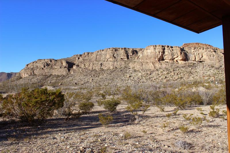 Opinión del pórtico del parque nacional de la curva grande fotos de archivo