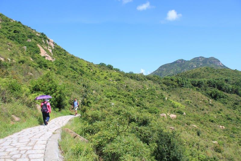 Opinión del paisaje de la isla de Lamma en Hong Kong imagen de archivo