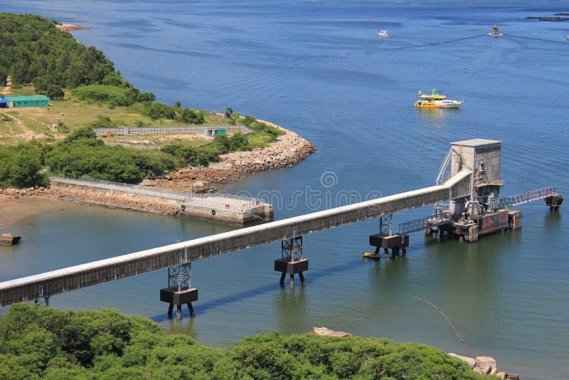 Opinión del paisaje de la isla de Lamma en Hong Kong fotos de archivo