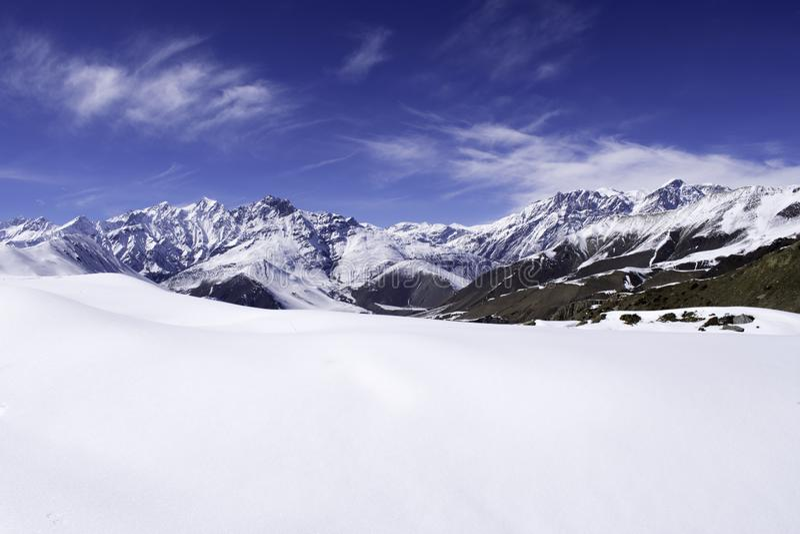 Opinión del paisaje de la montaña foto de archivo libre de regalías