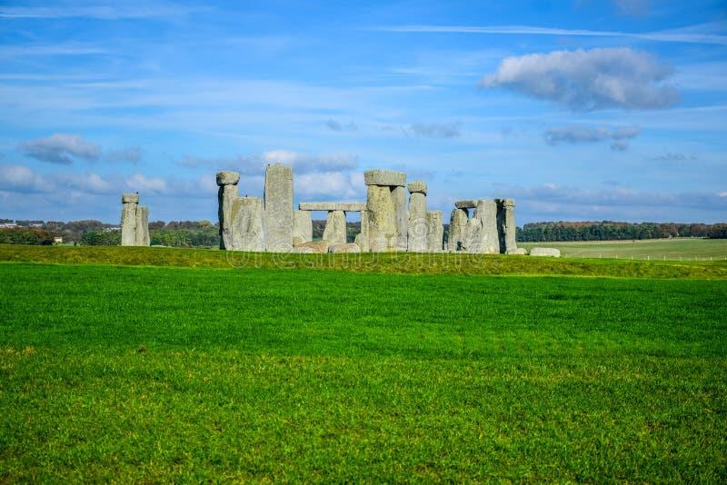 Opinión del paisaje de Stonehenge en Salisbury, Wiltshire, Inglaterra, Reino Unido imagen de archivo