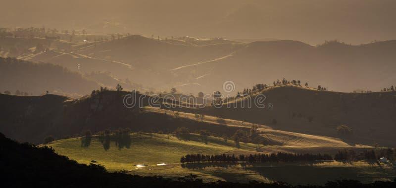 Opinión del paisaje del parque nacional de las montañas azules imágenes de archivo libres de regalías