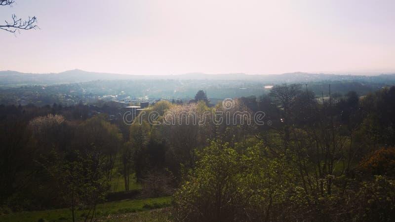 Opinión del paisaje del parque y de la ciudad y x28; spectacle& ocultado x29; fotos de archivo libres de regalías