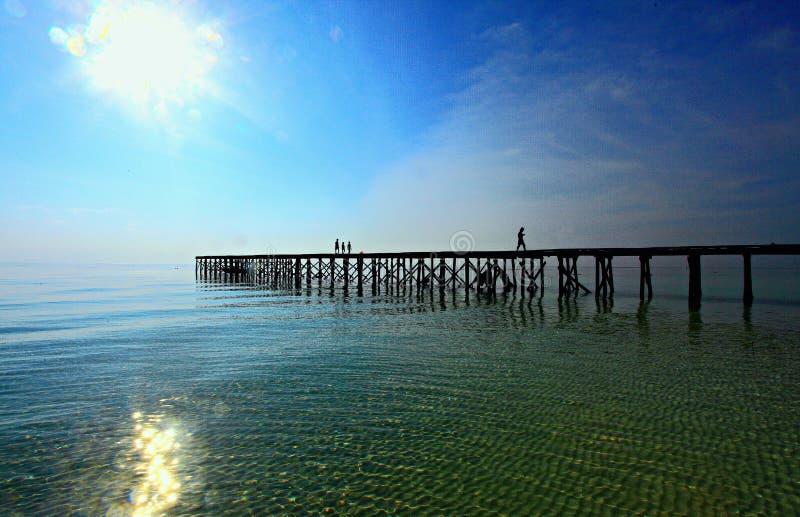 Opinión del paisaje marino de Maratua, Derawan, Indonesia fotografía de archivo libre de regalías