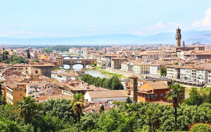 Opinión del paisaje urbano de la ciudad Italia de Florencia o de Firenze fotografía de archivo