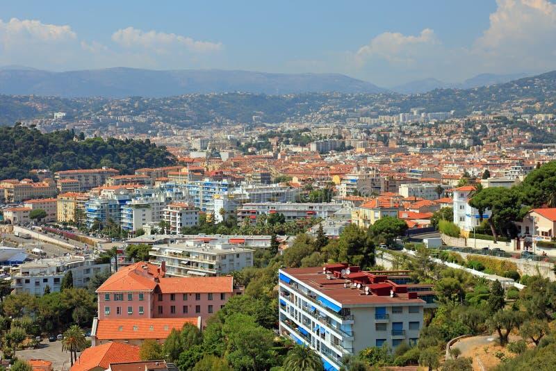 Opinión del paisaje urbano de Niza. imagen de archivo libre de regalías