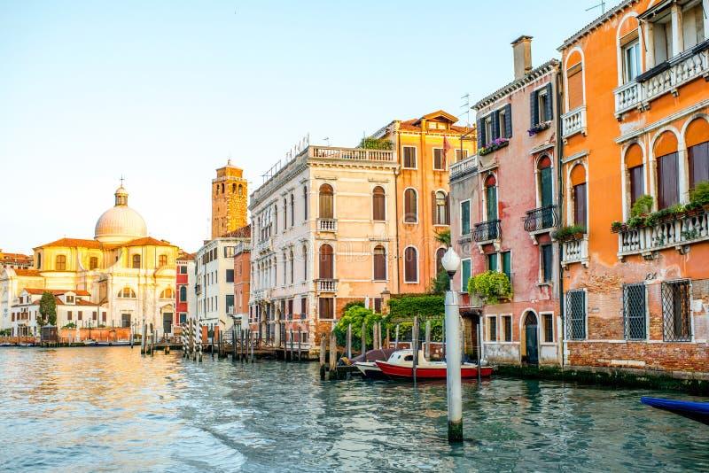 Opinión del paisaje urbano de Venecia fotos de archivo libres de regalías