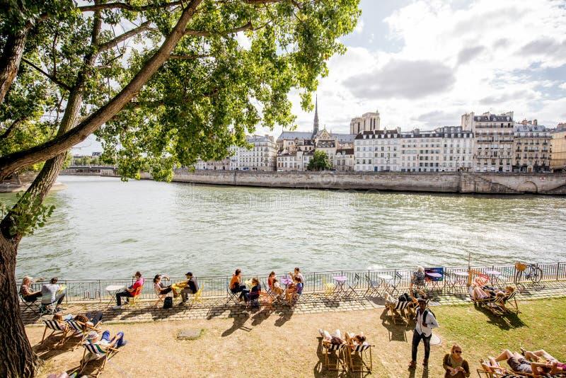 Opinión del paisaje urbano en París imagen de archivo libre de regalías