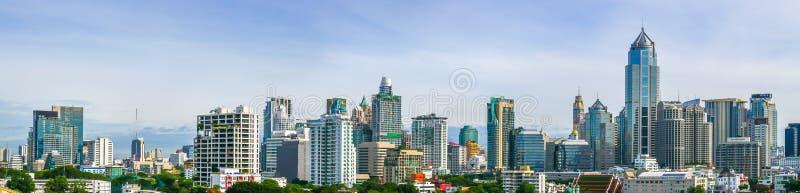 Opinión del panorama de la ciudad de Bangkok, Tailandia fotos de archivo