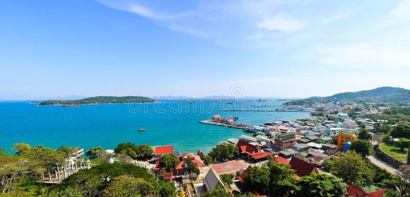 Opinión del panorama de la isla de Srichang imágenes de archivo libres de regalías