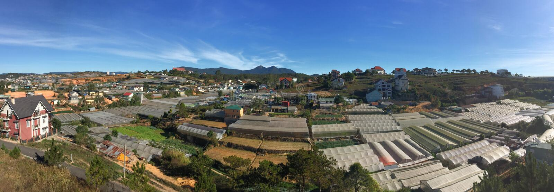 Opinión del panorama de las montañas de Dalat en Lam Dong, Vietnam fotos de archivo