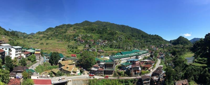 Opinión del panorama del valle de Banaue en Ifugao, Filipinas fotografía de archivo