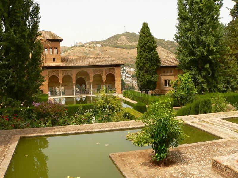 Opinión del parc de Alhambra imagenes de archivo