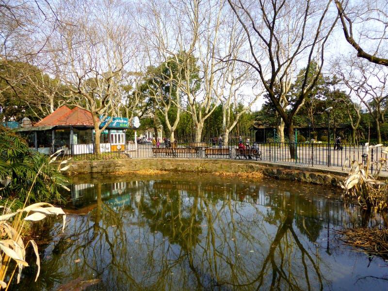 Opinión del parque de Zhongshan fotografía de archivo