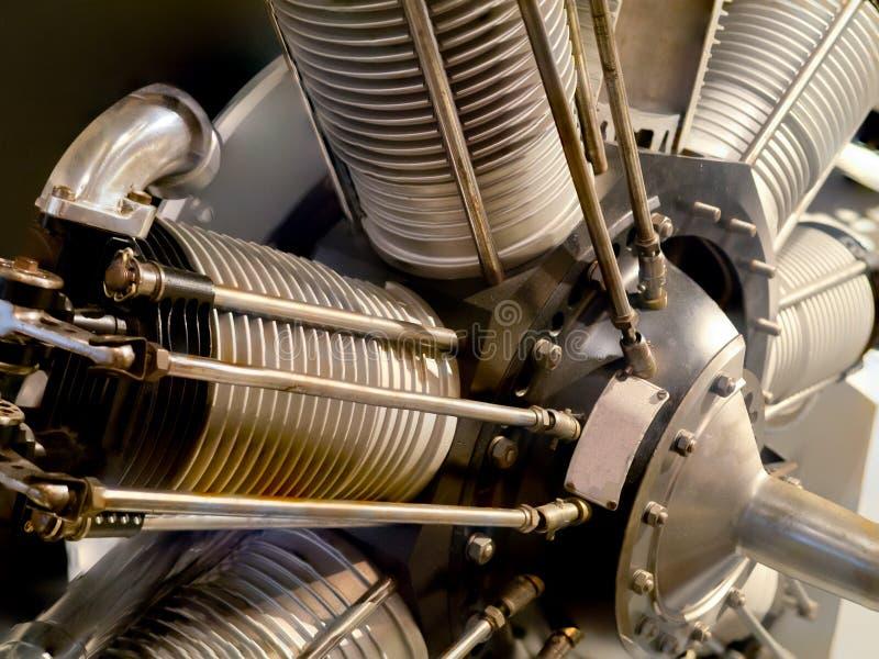 Motor radial del aeroplano del vintage imagen de archivo