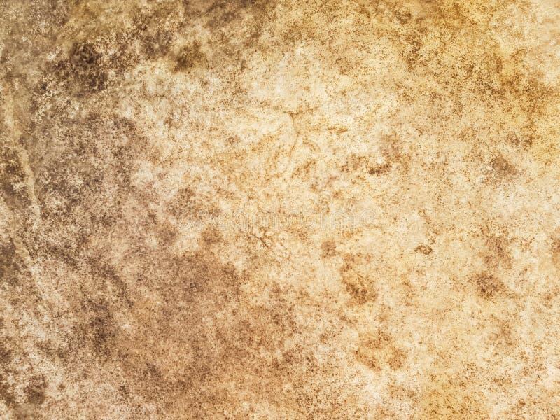 Opinión del primer de una vieja superficie antigua del parche de tambor Leathe natural foto de archivo