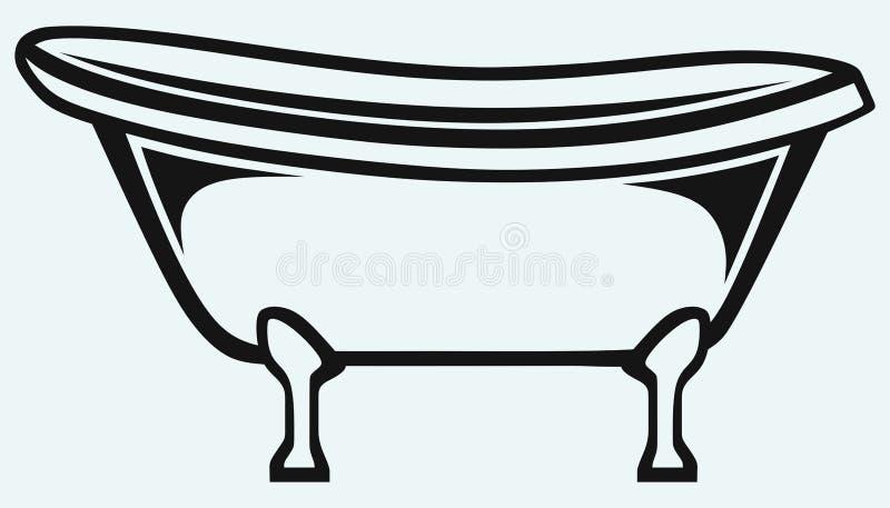 Opinión del primer del baño libre illustration