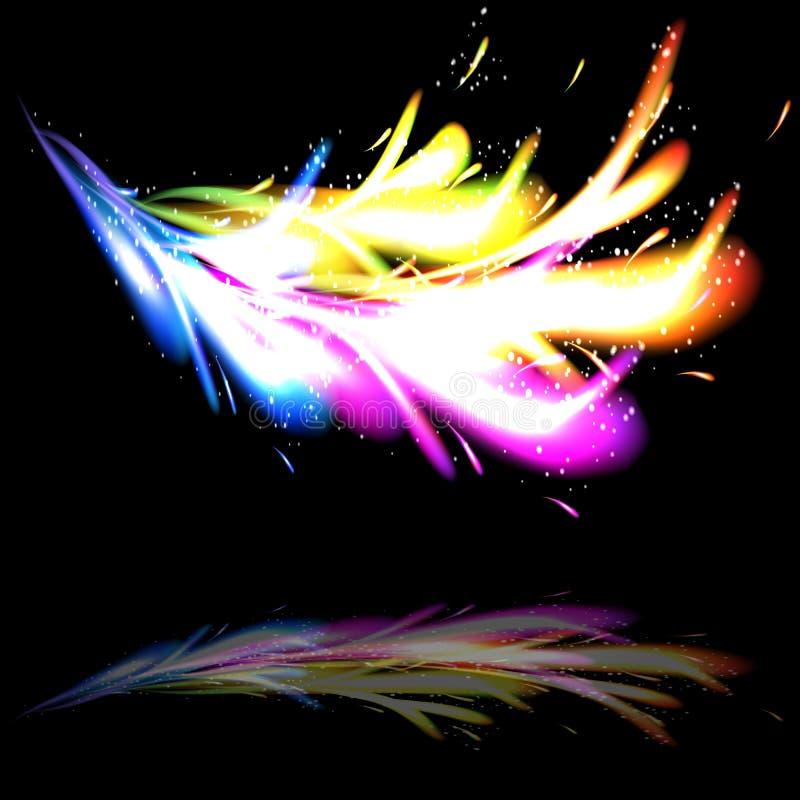 Opinión del primer del sparkler ardiente ilustración del vector