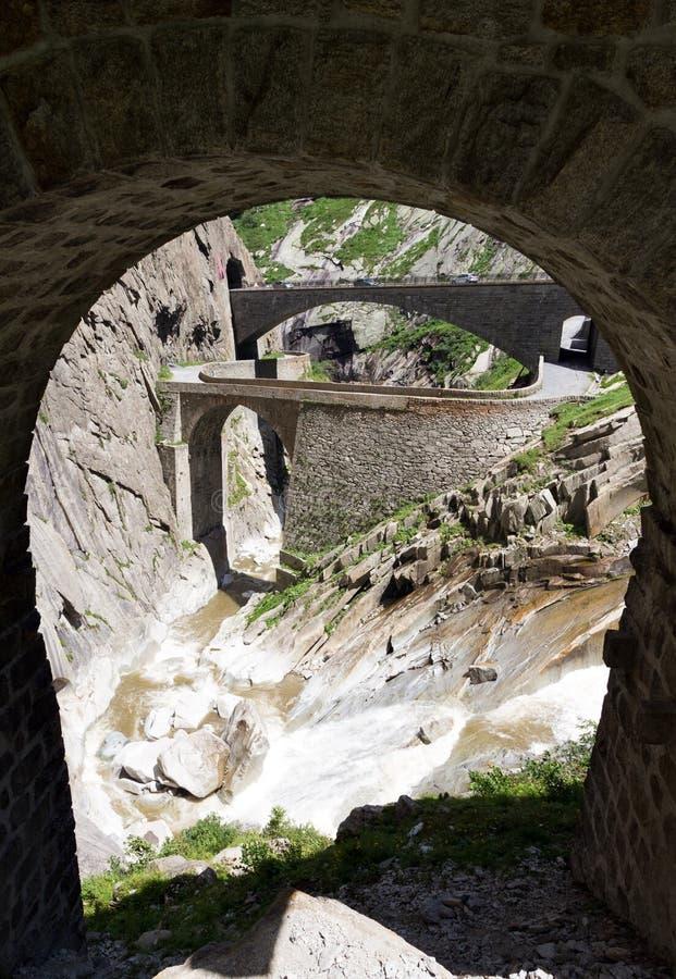 Opinión del puente de los diablos fotos de archivo