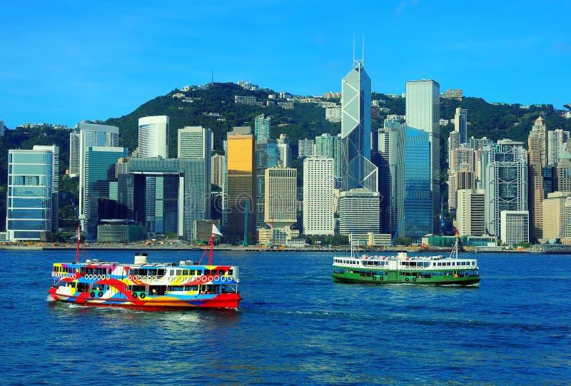 Opinión del puerto de Hong-Kong fotos de archivo