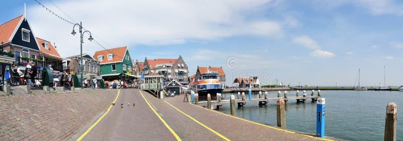 Opinión del puerto de Volendam, Países Bajos imágenes de archivo libres de regalías