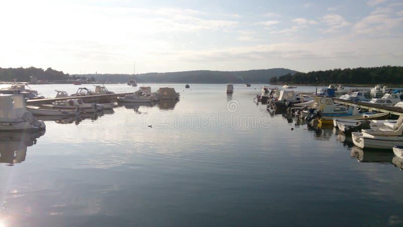 Opinión del puerto del verano imagen de archivo