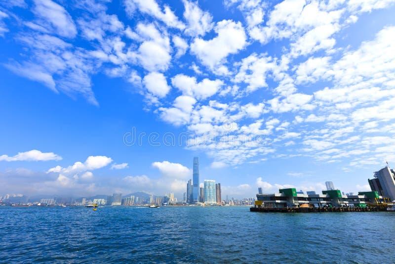 Opinión del puerto en Hong Kong foto de archivo libre de regalías