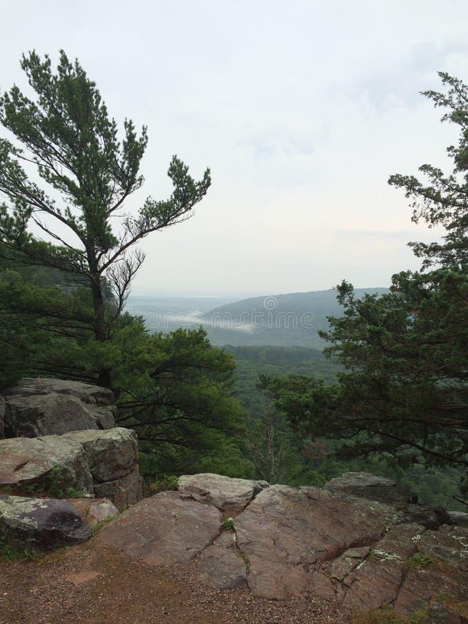 Opinión del puesto de observación en el lago Wisconsin devils foto de archivo libre de regalías