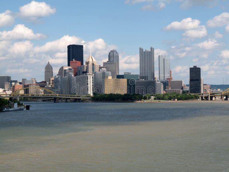 Opinión del río de Pittsburgh fotografía de archivo libre de regalías