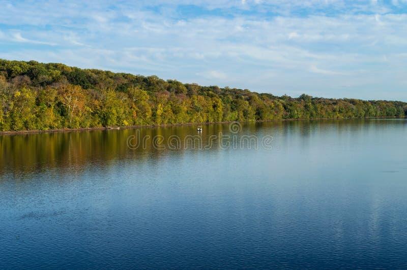 Opinión del río Delaware foto de archivo libre de regalías