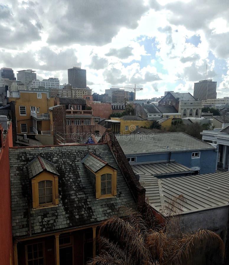 Opinión del tejado en New Orleans imagen de archivo