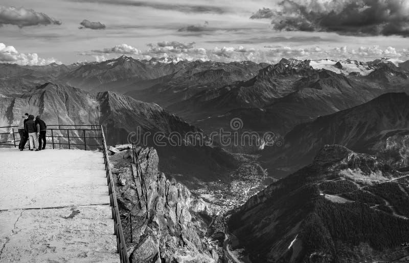 Opini?n del valle de Aosta del refugio de Torino, Italia imágenes de archivo libres de regalías