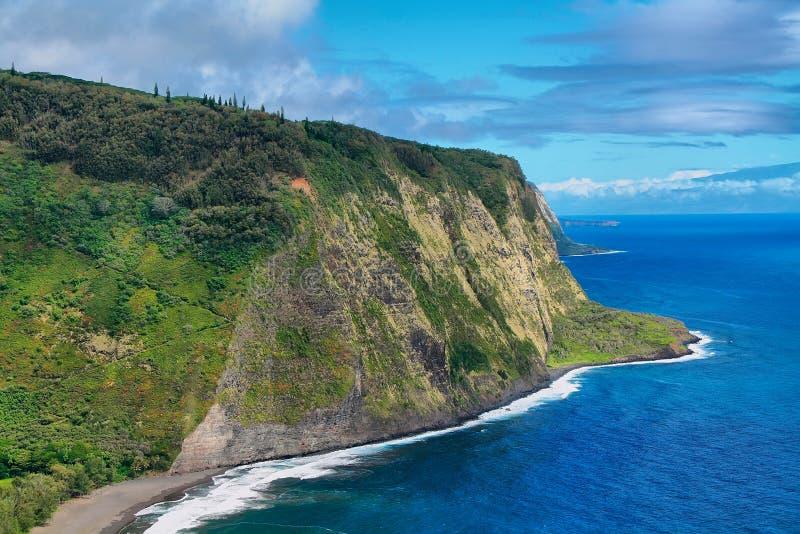 Opinión del valle de Waipio en Hawaii imagenes de archivo