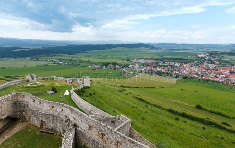 Opinión del verano del castillo de Spis (Eslovaquia) fotos de archivo libres de regalías