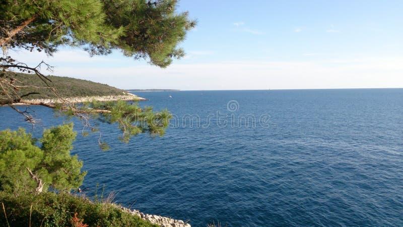 Opinión del verano en Istria foto de archivo