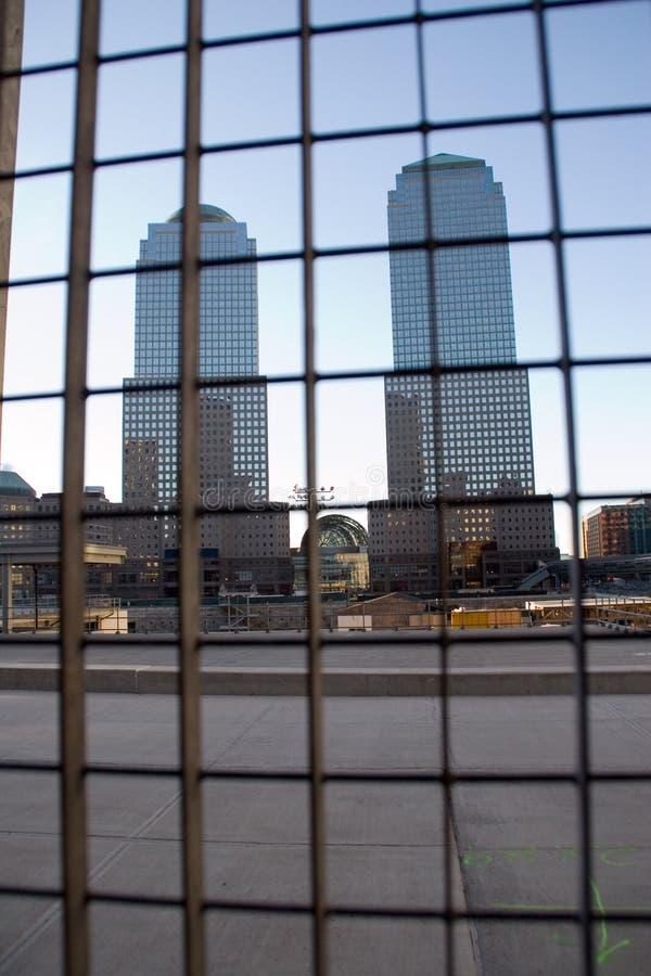 Opinión del World Trade Center imágenes de archivo libres de regalías