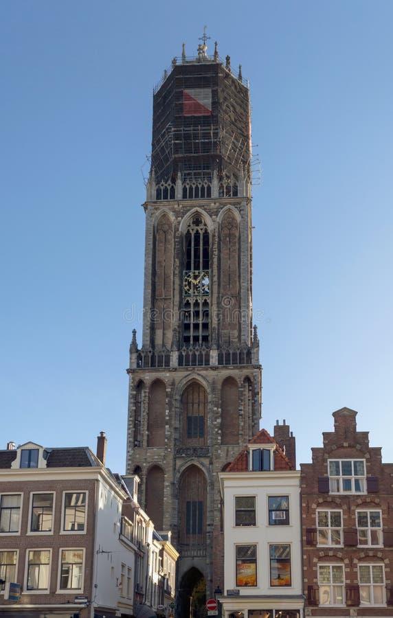 Opinión Dom Tower en Utrecht fotos de archivo libres de regalías