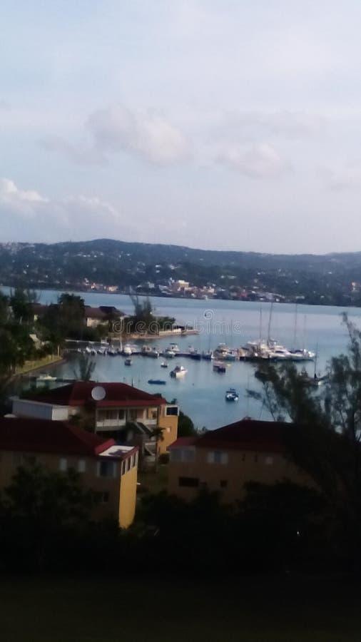 Opinión dulce de Jamaica en hotel sin aliento foto de archivo