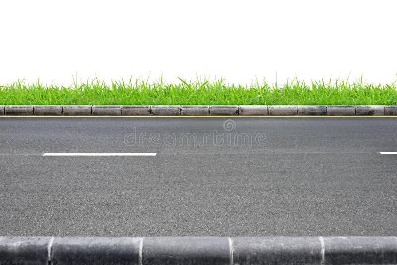 Opinión e hierba del borde de la carretera foto de archivo