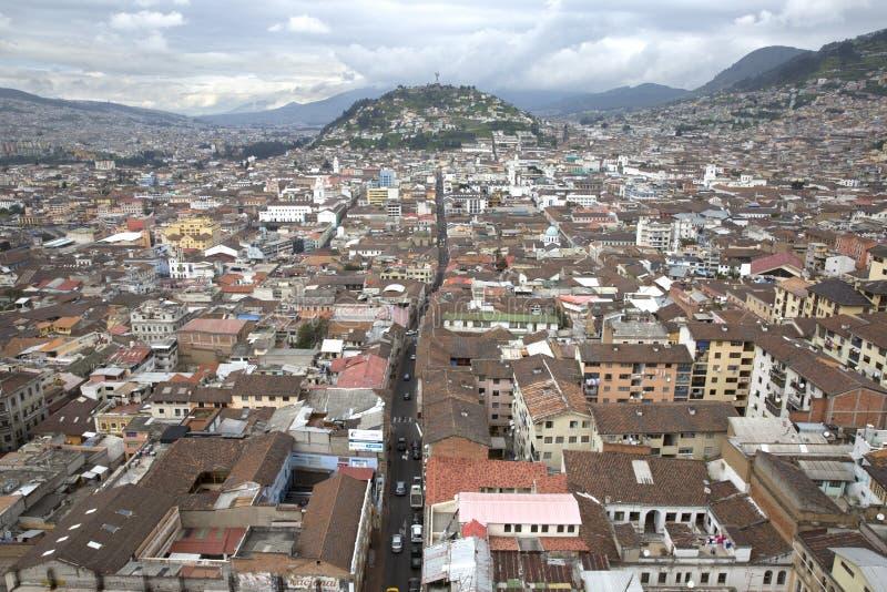 Opinión el capital de Quito de Ecuador imagenes de archivo