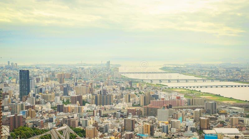 Opinión el lado del noroeste de Osaka imagenes de archivo