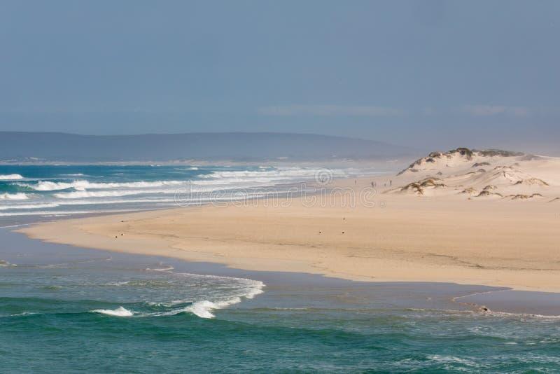Opinión en la reserva de naturaleza costera de De Mond, Suráfrica del Océano Índico fotografía de archivo libre de regalías