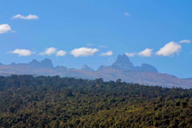 Opinión escénica del panorama del monte Kenia foto de archivo libre de regalías