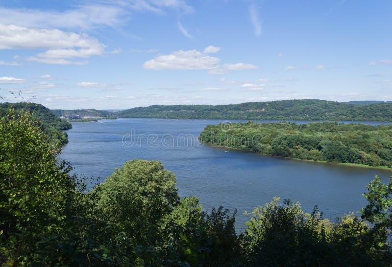 Opinión escénica del río de Susquehanna fotos de archivo libres de regalías