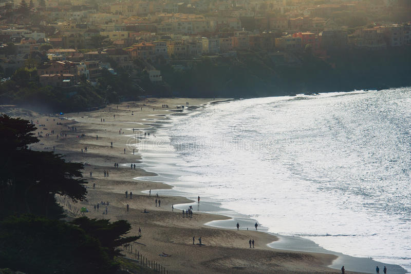 Opinión escénica el panadero Beach imágenes de archivo libres de regalías