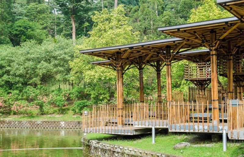 Opinión escénica Kuala Lumpur Perdana Botanical Gardens, ofreciendo la vista del teatro de bambú foto de archivo