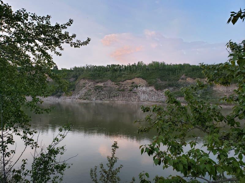 Opinión escénica sobre el lago pigeon, Jackie Parker Park fotografía de archivo libre de regalías