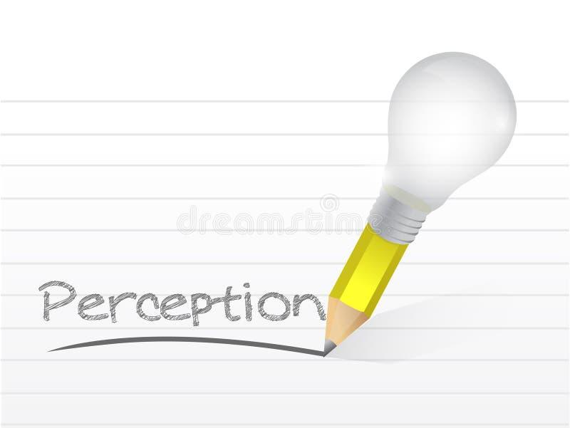 Opinión escrita con un lápiz de la idea de la bombilla libre illustration