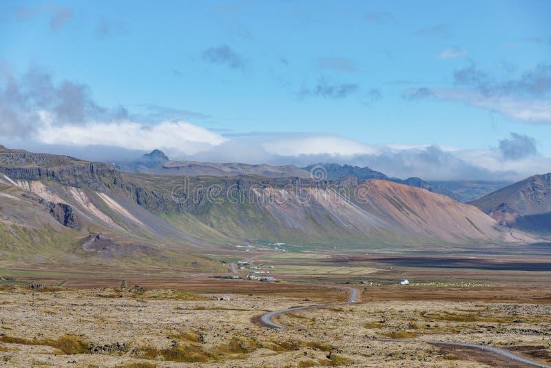 Opinión extensa del paisaje de Islandia fotografía de archivo libre de regalías