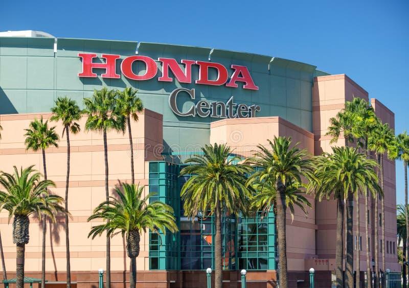 Opinión exterior de Honda Center imagen de archivo